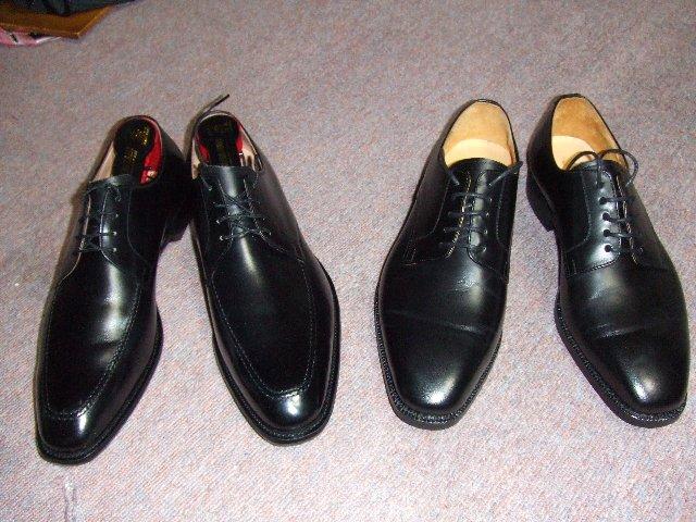 さて、ネクタイの次は革靴の ...