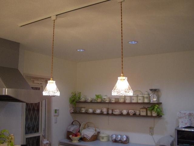 キッチンカウンターの照明① ...