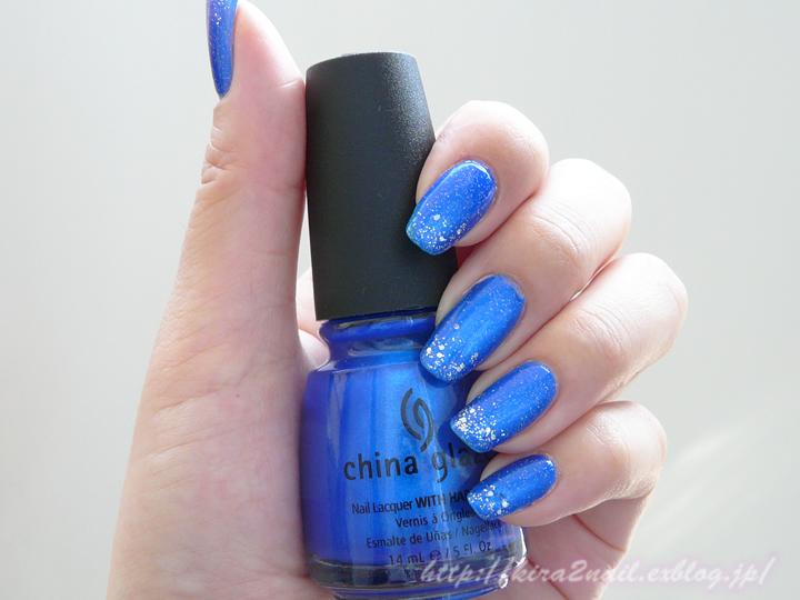ネイル 夏 シンプル ブルー