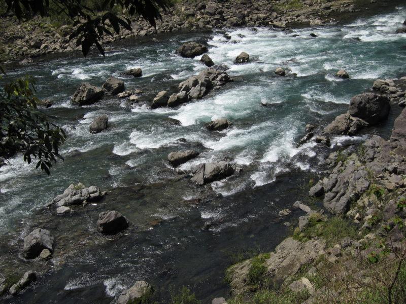 下流域と違って透明度はかなりましになっている。また下流域と違った四万十川... 四万十川の清流と