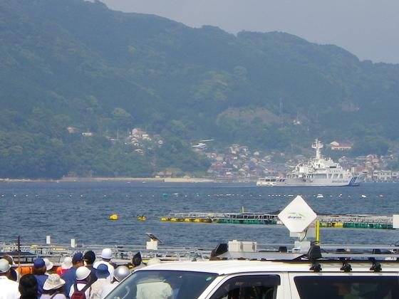 巡視船すずか 賀田湾には、尾鷲海上保安部の巡視船すずかが停泊していて、そ... 尾鷲市土砂災害総