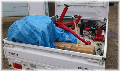 自転車の 軽トラ 荷台 自転車 : 鉄工所の軽トラにエンジンを ...